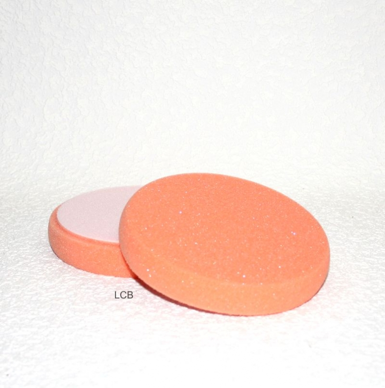 Polierschaum 150mm - orange, glatt