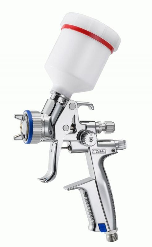 SATA minijet 4400 B RP mit 0,125 l QCC Kunststoff Mehrwegbecher
