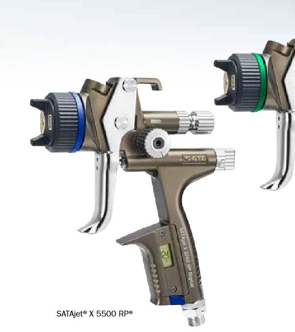 SATAjet® X 5500 RP kpl. mit je 1 x RPS Mehrzweckbecher 0,6 l / 0,9 l mit Drehgelenk