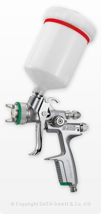 SATAjet 1000 B HVLP mit 0,6 l QCC Kunststoff Schnellwechsel Fließbecher mit Drehgelenk