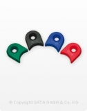 SATA Packung CCS Clips je 1 Stück grün, blau, rot, schwarz