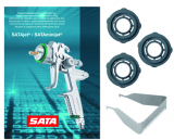 Packung mit 3 Stück Luftverteilerringen für SATAjet 3000 B, jet 2000 HVLP, jet RP, jet 3000 K