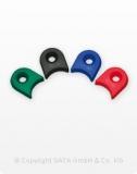 Packung mit 4 CCS-Clips - je 1 Stück grün, blau, rot, schwarz für SATAjet 4000 B