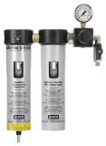 SATA filter 100 prep 2-stufiger Sinterfilter/Feinfilter, Druckregler, Abgangshahn (1/4 Außengewinde)