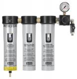 SATA filter 103 prep 3-stufiger Sinterfilter/Feinfilter/Aktivkohlefilter, Druckregler, Abgangshahn (1/4 Außengewinde)
