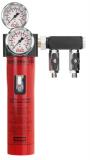 SATA filter 434 - 1-stufiger Feinfilter ohne Druckregler mit Abgangsmodul (2 x G 1/4 a)