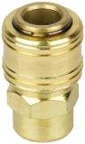 Druckluft Kupplung mit Innengewinde - Messing