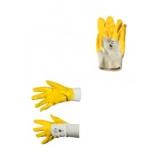 Sahara Arbeits Handschuhe, gelb, mit Strickbund